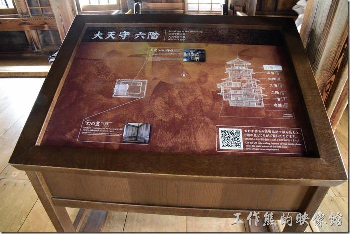姬路城天守閣最頂層(大天守 六階)的平面圖。
