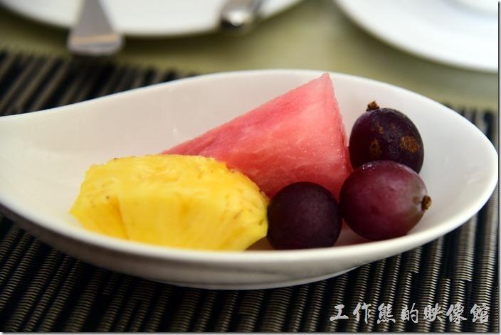 蘇澳瓏山林溫泉飯店早餐。餐後水果。