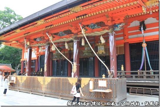 八坂神社-紙園祭,本墊,據說其下面有「龍穴」。
