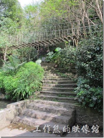 大板根森林溫泉渡假村。在烤肉區富有一座吊橋,這吊橋非常的晃,行動不方便者不建議行走。