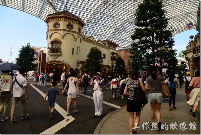 日本大阪-環球影城。這是一進門的區域。