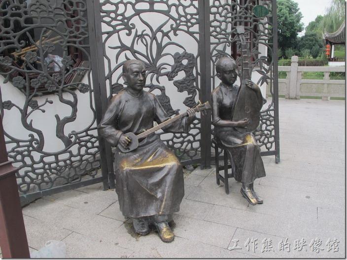 甪竹古鎮「江南文化園區」內的裝置藝術