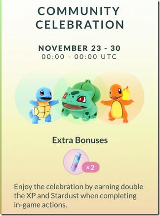 Pokemon-Go感恩節推出「百變怪」戰鬥時會華麗變身,還有經驗與星塵雙倍送
