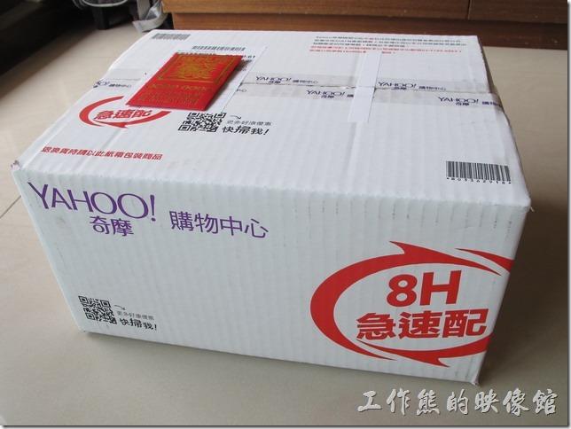 工作熊是在Yahoo購買這台【SONY BDP-S1500藍光播放機】,可能因為是在農曆國年期間購買,所以是在下單後的隔兩天才收到。
