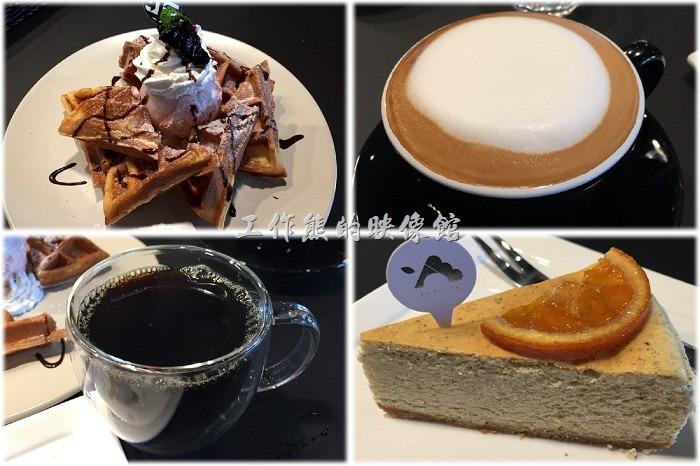 [台南]黑浮REVE咖啡喝下午茶,只要點蛋糕或鬆餅,飲料就可以半價優待