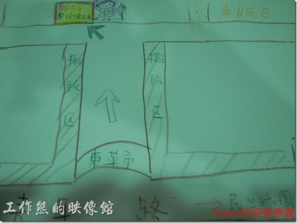 『鄭記黑珍珠玉米』在台南東菜市場內的位置。(照片提供來自 Potato186)