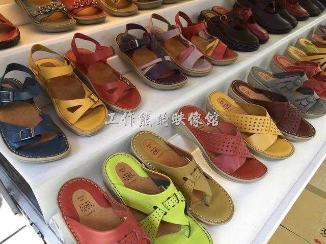 台南安平-駿益製鞋行。女款涼鞋