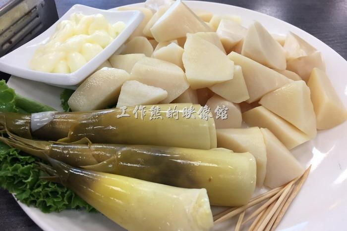 台南安平-海之味海產。冷筍,NT500。夏天就得來這一道涼筍,甘甜不苦。