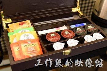 【台中林酒店】的每一間客房內都配有一台膠囊咖啡機,膠囊咖啡當然也是免費,有興趣的朋友可以嘗鮮一下