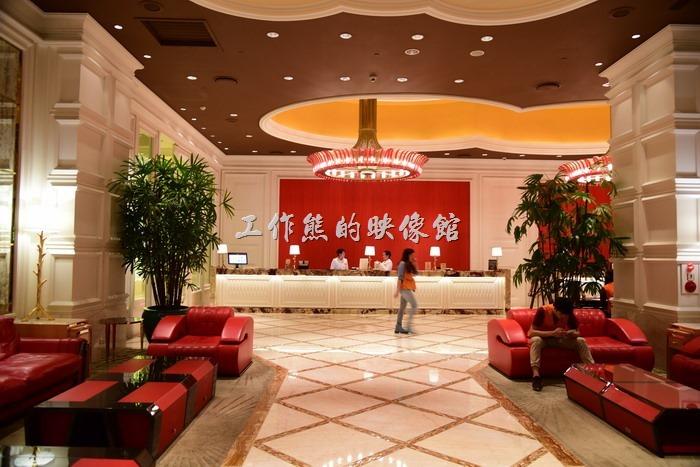 台中林酒店,旅館大廳。