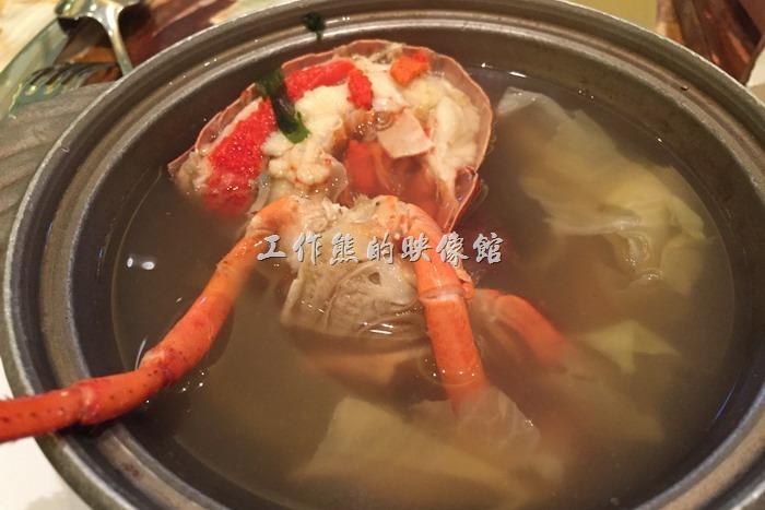 其實工作熊個人個人真心不推薦這個【波斯頓龍蝦湯】,因為這龍蝦湯的湯頭喝起來幾乎跟「茶壺湯」一模樣,而且龍蝦的肉質又老又硬,真的有點名過其實了。
