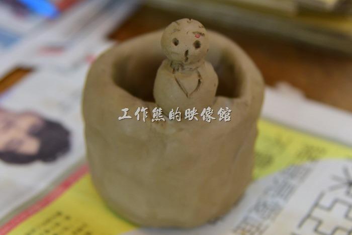 苗栗-華陶窯。這個是工作熊捏好玩的,當然是一點藝術水準都沒有,反正就是玩泥巴。