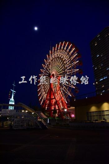 心血來潮,跑來乘坐神戶港的摩天輪,印象中一個人好像要日幣800円的樣子,大概只有15分鐘的樣子,記得不是很清楚了。