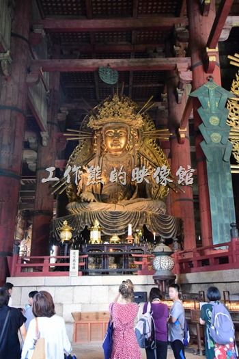 只要稍微留意一下東大寺大殿的建築,會發現它基本上都是純木造建築。