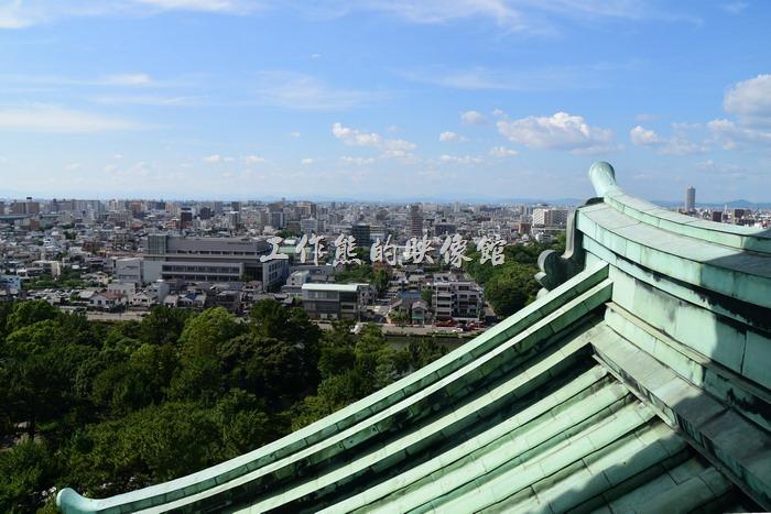 從名古屋城大天守閣眺望名古屋的景像。