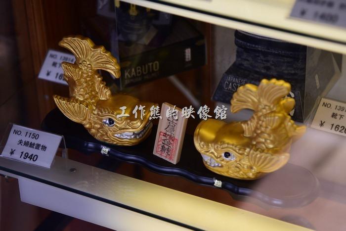 名古屋城大天守頂層的藝術品販賣區。