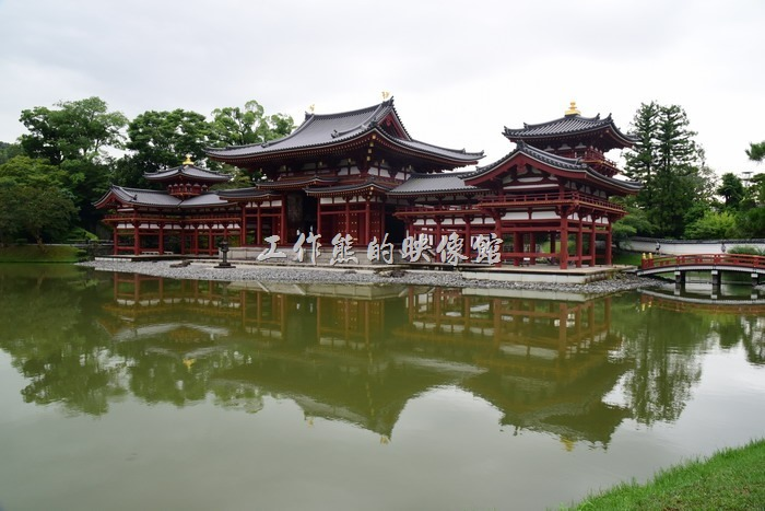 日本宇治-平等院。你可以有好幾個角度來欣賞這座「鳳凰堂」。