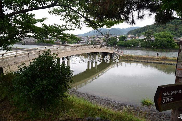 想參觀「橘島」可以沿著宇治川旁走這座橋過去,免費的,不過工作熊這次沒有過去。