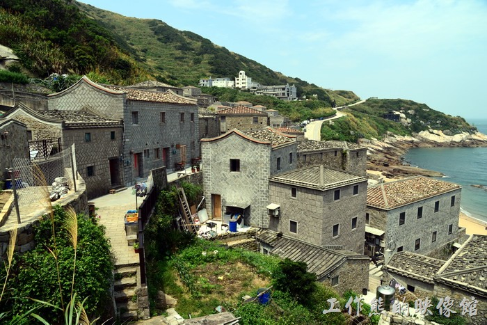 馬祖北竿-芹壁聚落。這裡是馬祖有名的傳統石頭建築聚落。