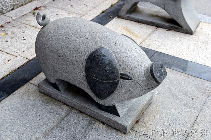 馬祖南竿-馬祖民俗文物館。「豬」生肖圖騰。