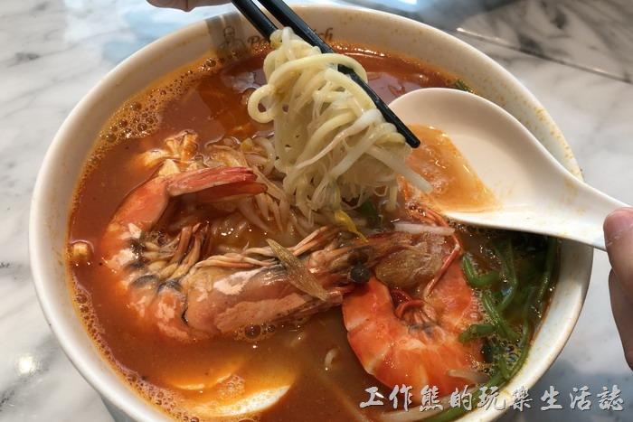 台北南港-金爸爸。爸爸蝦麵,NT320。