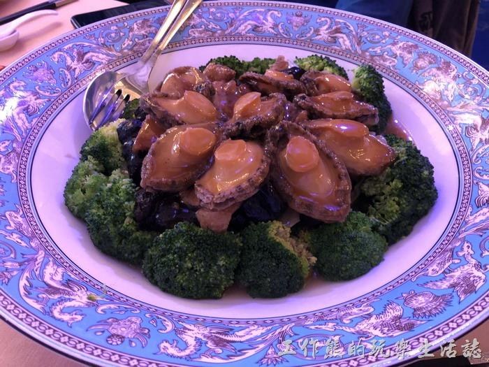 台北-頂鮮101景觀餐廳。鮑魚虎掌燴烏蔘。
