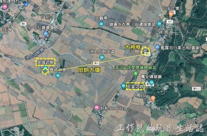 台東池上伯朗大道地圖