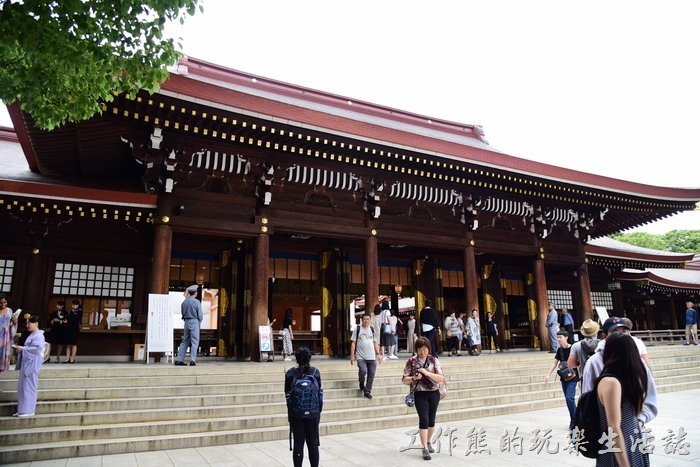明治神宮的本殿,內部禁止攝影。