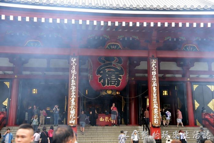 日本-淺草寺的本堂。