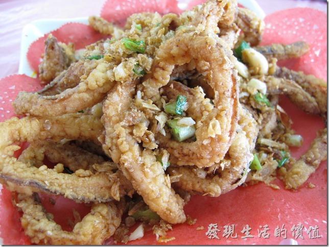 屏東後碧湖-昇日全平價海鮮。鹹酥大卷。NT$180。