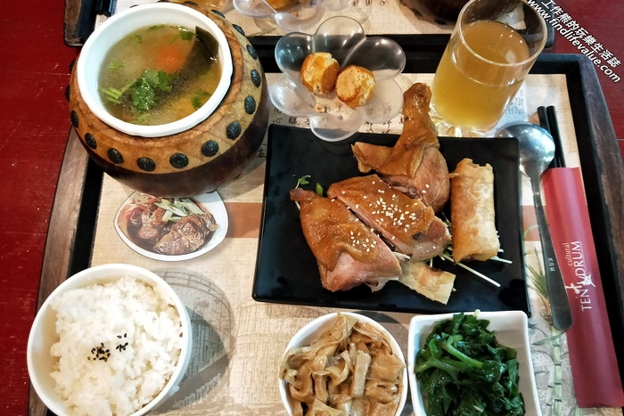 十鼓餐廳。蔗香雞腿套餐,NT299。